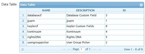 Data Table from SQL query - Power Database Fields PRO