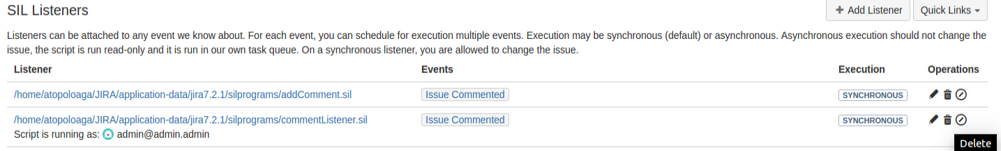SIL Listeners - Power Scripts™ for Jira 4 0 - Confluence
