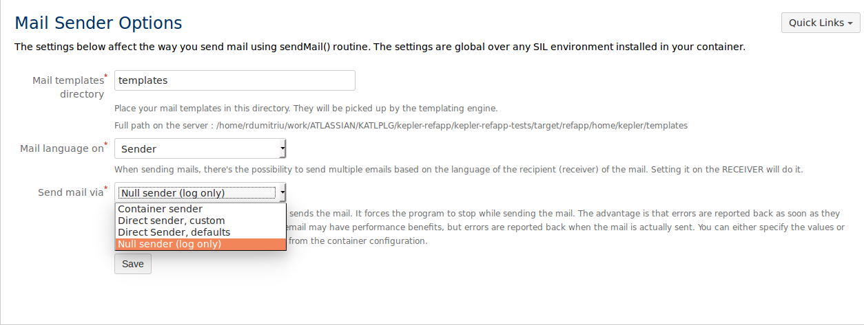 Mail configuration - Simple Issue Language 4.0 - Confluence